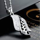 Free Shipping high quality 925Sterling Silver Guarantee100%  Elegant hollow out necklace N071