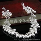 Free Shipping high quality 925Sterling Silver Guarantee100% Frosted Pearl Bracelet bunches B023