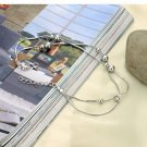 Free Shipping high quality 925Sterling Silver Guarantee100% Lucky beaded Bracelet B024