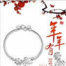 Free Shipping high quality 925Sterling Silver Guarantee100% Fish every year more than Bracelet B027