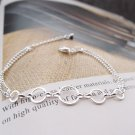 Free Shipping high quality 925Sterling Silver Guarantee100% Three times Bracelet B028