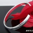 Free Shipping high quality 925Sterling Silver Guarantee100% Openings pure glossy Bracelet  B036