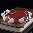 Free Shipping high quality 925Sterling Silver Guarantee100% Three roses Bracelet B052