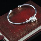 Free Shipping high quality 925Sterling Silver Guarantee100% Cute little fish Bracelet B073