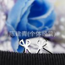 Free Shipping high quality 925Sterling Silver Guarantee100% Scissors earrings cute girls E016