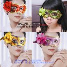 Free Shipping High Quality Guarantee100% A++++++ Side Flower Mask Dance Performances Catwalk001