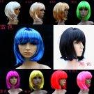 Free Shipping high quality Guarantee100% Dance performances BOB short hair wig063