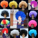 Free Shipping high quality Guarantee100% Prom dress clown props large curls wig064