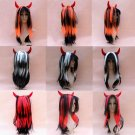 Free Shipping high quality Guarantee100%Prom horns long straight hair wig069