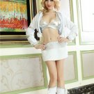 White Uniform Exotic Apparel Sexy Costumes For Adults Stripper Pole Dance Women Clothing Cubwear