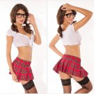 College Students Costumes Cosplay &Sexy Apparel Graduation Party Play Fantasy Women Erotic Clothes