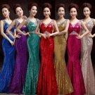 Evening Dresses Dark-V  Mermaid Dress Special Occasion Sequins Clothing
