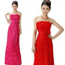 European Style Lace Evening Dresses Slim Strapless Fashion Bride Dresses  Women Clothing