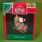 Hallmark 1990 Santa's Journey Miniature Ornament