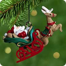 Hallmark 2000 Santa's Journey Begins Miniature Ornament