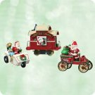 Hallmark 2003 Here Comes Santa  Set of 3 Miniature Christmas Ornaments