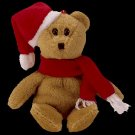 Ty Jingle Beanie Baby 1997 Holiday Teddy the Christmas Bear Retired