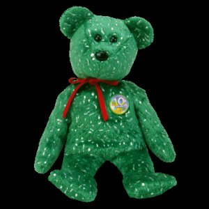 Decade the Bear Green Ty Beanie Baby Retired