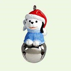 Hallmark 2005 Dog Christmas Bells Series Miniature Ornament