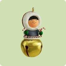 Hallmark 2004 Frosty Friends Christmas Bells Series Miniature Ornament