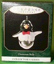 Hallmark 1999 Penguin Christmas Bells Series Miniature Ornament
