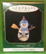 Hallmark 1997 Snowman Christmas Bells Series Miniature Ornament