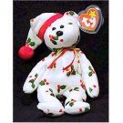 1998 Holiday Teddy Bear Ty Beanie Baby Retired Christmas