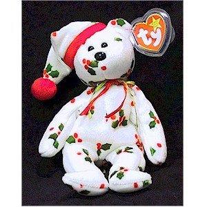 1998 Holiday Teddy Bear Ty Beanie Baby Retired Christmas