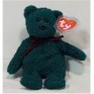 2001 Holiday Teddy Bear Ty Beanie Baby Retired Christmas