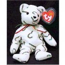 Cand-e the Bear Ty Beanie Baby Candy Cane Retired Christmas
