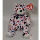 White the Bear Ty Beanie Baby USA Retired