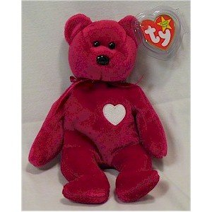 Valentina the Bear Ty Beanie Baby Retired Valentine's Day