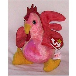 Strut the Rooster Ty Beanie Baby Retired