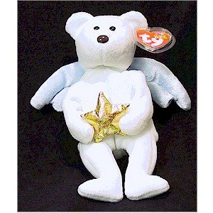 Star the Angel Bear Gold Star Christmas Ty Beanie Baby Retired