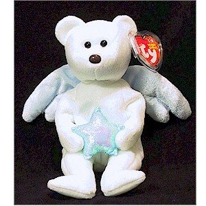 Star the Angel Bear Blue Star Christmas Ty Beanie Baby Retired