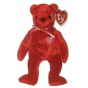 Kiss-e the Bear Ty Beanie Baby Retired Valentine's Day