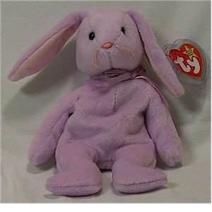 Floppity the Lavender Bunny Ty Beanie Baby Easter Retired
