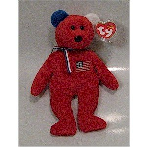 America the Red 9-11 Bear Ty Beanie Baby Retired USA