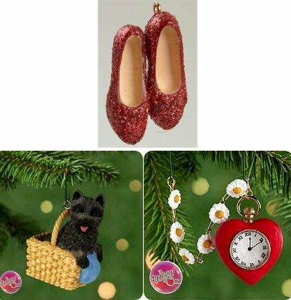 Hallmark Wonders Of Oz Series Complete Set of 3 Miniature Ornaments
