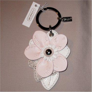 Coach Leather Flower Key Ring Key Fob  F69956