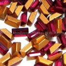36 Swarovski 4x2mm Ruby Color Baguettes Vintage Article 109 Crystal Rhinestones Lot