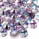 36 Preciosa 24pp Vitrail Light Crystal Chatons Vintage Special Effects Rhinestones