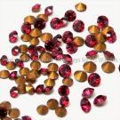 72 Swarovski 24pp & 18pp Ruby Color Chatons Vintage A1012 Crystal Rhinestones Mixed Lot