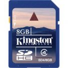 Kingston-8GB SDHC Memory Card Class 4