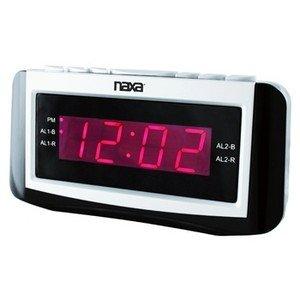 Naxa-PLL Digital Alarm Clock with AM/FM Radio, Snooze & Large LED Display