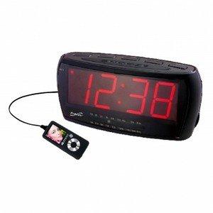Supersonic-Digital Jumbo Alarm Clock with AM/FM Radio