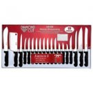 Diamond Cut-19pc Cutlery Set in White/Red Bow Box