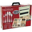 Sterlingcraft- 72pc High-Quality, Heavy-Gauge Stainless Steel Flatware and Hostess Set