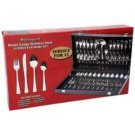 Sterlingcraft-51pc Heavy-Gauge Stainless Steel Flatware Set