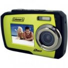 Coleman-14.0 Megapixel Duo Underwater Dual Screen Digital Camera (Green)